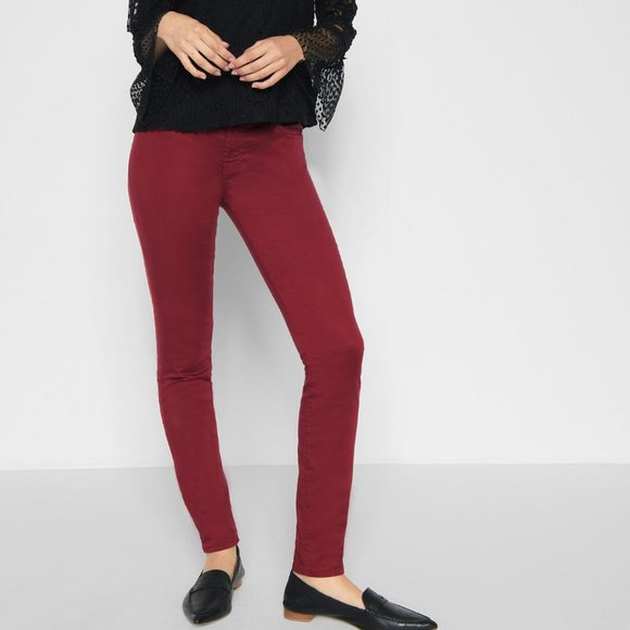 7FAMK | B(AIR) Colour Ankle Skinny in Oxblood